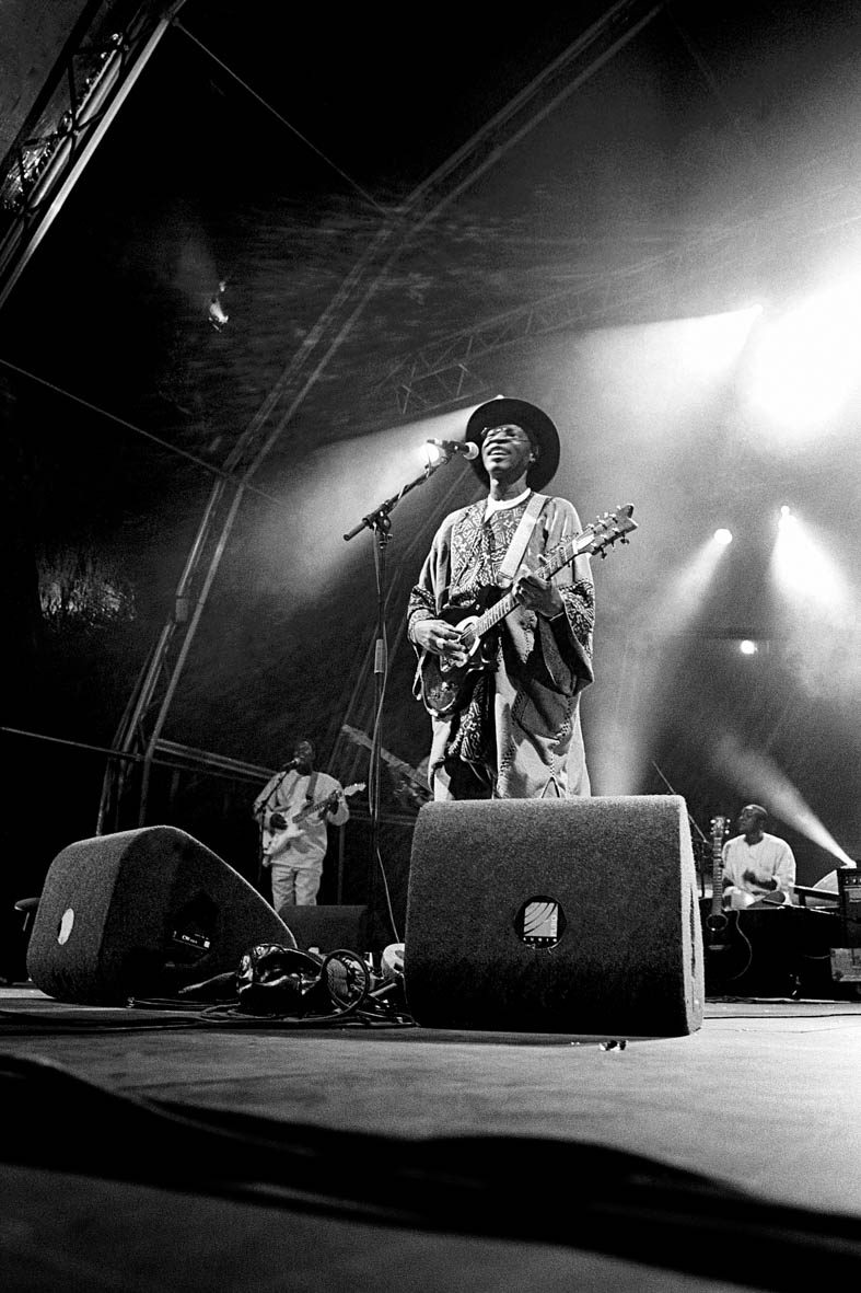 Ali Farka Toure in concert.