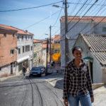 Portugal, Amadora. 2015. Whassysa Magelhães in the streets of Alto da Cova da Moura.