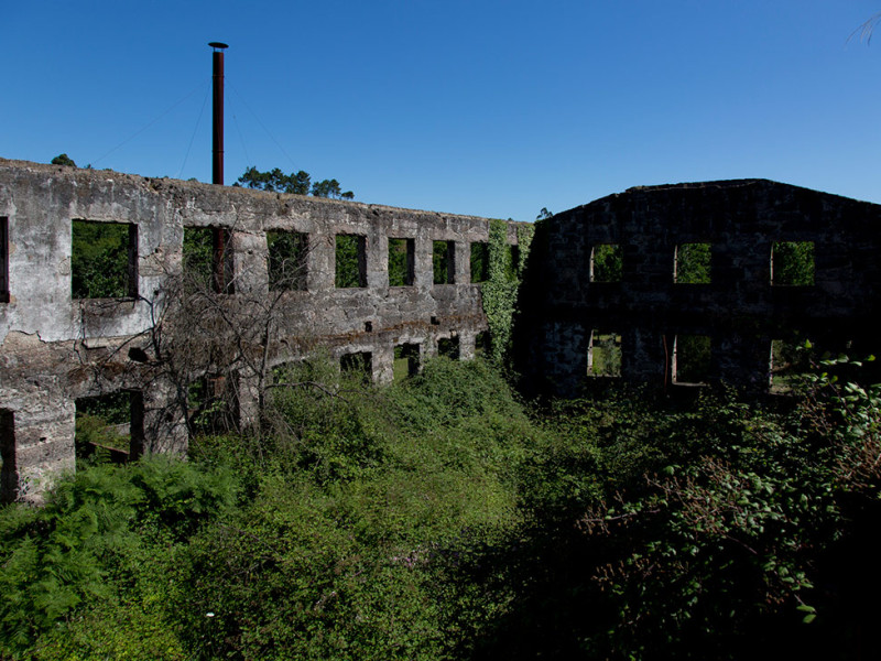 Portugal, Beira Litoral, Parada de Gonta. 2014. Former textile factory.