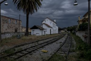 Portugal, Alto Douro, Cachão. 2017. One of the few railway stations on the Tua railway that is still operational. Bigger part of the railroad is being submerged after the barrage in the confluence of the Tua and Douro rivers was closed in May 2016.